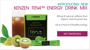 Nikken Kenzen ten4 Energy Drink Mix Header