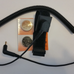 Wrist strap & cord and 2 pack of replacement batteries for Nikken Solitens SW103B